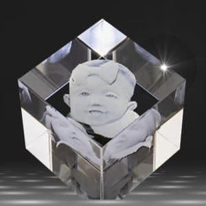 3D Crystal Cut Corner